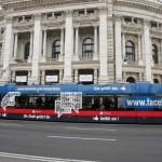 Facebook-Bim in Wien