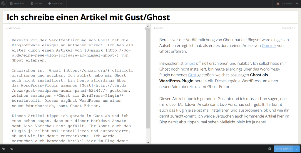 Gust. Ghost für WordPress