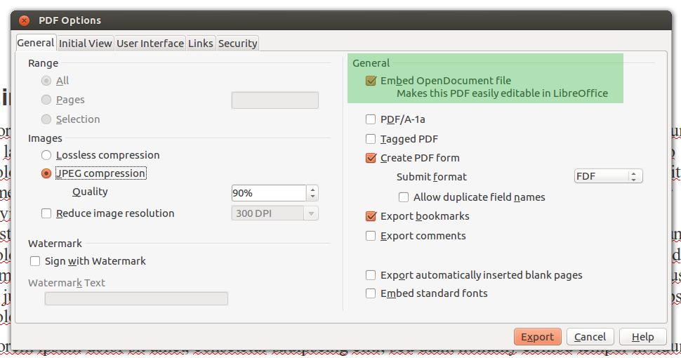 Hybrides PDF mit LibreOffice erstellen