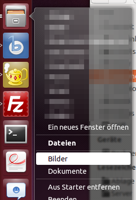 Fensterwechsel via Unity Launcher