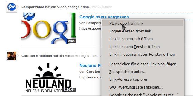 Youtube-Videos in VLC wiedergeben